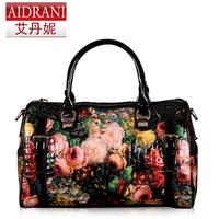 2014 women's handbag fashion vintage oil painting rose bag the trend of fashion bag messenger bag