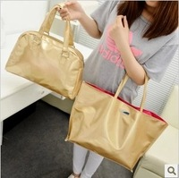 Bags set 2014 Sac Fashion Ladies Gold Bag Tote Shopping bags Women handbags Bolsos preppy bag free shipping