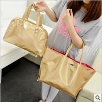 Bags set 2014 Sac Fashion Ladies Gold Bag Tote Shopping bags Women handbags Bolsos preppy bag free shipping