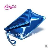 Hot  2014 fashion pu women's light blue vintage day clutches female clutch purses women's envelope clutch