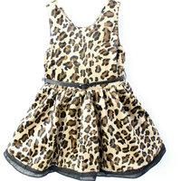 2014 spring models girls leopard vest, skirt , princess dress children's clothing wholesale special children