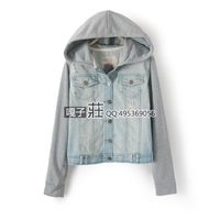2013 mm winter plus size denim clothing fashion sweatshirt jacket plus size outerwear wnw