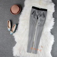 Spring and autumn women's elastic waist elastic knitted legging ae11 legging