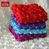 Wedding dress fabric roses fabric 3D flower carpet festival wedding dress fabric 1.3 meters wide hollow