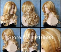 fast Shipping  Fashion Long  Wig + weaving cap  YYY1