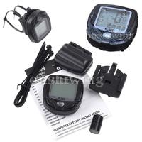 Waterproof Bike Bicycle Cycling Wireless LCD Computer Odometer Speedometer  ON0091