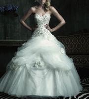 white/ivory wedding dress custom size 6-8-10-12-14-16-18 or custom free shipping