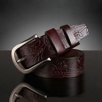 Free Shipping New Unique Design  Cowskin Female Belts Fashion Alloy Pin Buckle Genuine Leather Women's Belt