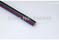 50pcs/lot 10cm RGB 4pin female type connector for led RGB strip