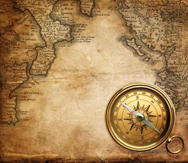 Vintage European Map Vintage Map Decorative