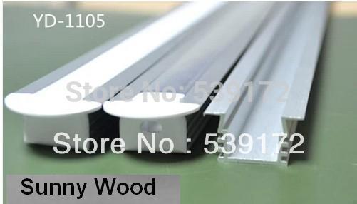 10pcs/lot led aluminium profile for 11mm PCB board led bar light,YD-1105(China (Mainland))