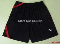 High Quality 2 pcs/lot Professional Victor Badminton Shorts Athletic Men's Clothes Blue and Black 026