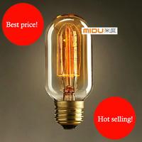 Free Ship,Wholesale Price,Fashion Incandescent  Edison Bulb Fixtures,220V/40W/E27 45*110(mm),Vintage Antique Edison Lights Bulbs