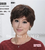 Free shipping  human hair wig very smart  short style cheap wig