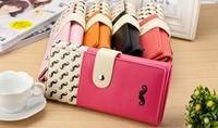 Fashion Lady wallet PU long purse new design 2014