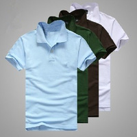 Free Shipping Summer 2014 Men's Fashion Wear Polo Shirt Brand Cotton Men's Casual Short-sleeved 13 Colors Size SML XL XXL XXXL