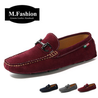 New style 2014 spring fashion Men's leather flats man gommini loafers slip on boat shoes male moccasins driving shoes casual