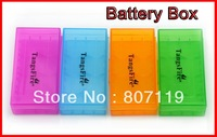 TangsFire (4 Pack) 18650 / 18350 16340 cr123a 4 Cell Battery Case (Blue Green Purple Orange)