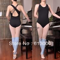 New design black cotton ballet dance leotard women gymnastic leotard dance wear free shipping
