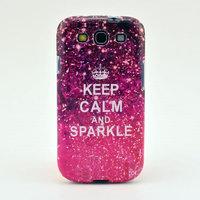 Keep Calm and Sparkle TPU Phone Case For Samsung Galaxy S3 I9300 ovs jdm