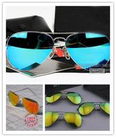 High Quality ! 2014 new Fashion RETRO Men / women polarized luxury brand designer vintage reflective sunglass with box