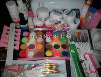 2014 Jumbo Nail Art Manicure Decoration 9W UV white dryer lamp 30 color Acrylic Powder Nail Art Kit gel tools Set #2 free
