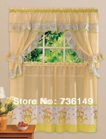 kitchen or coffee curtain party decoration curtain tulip one set consist of 5 pieces of curtains HOT SELL