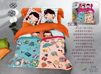 Free shipping cartoon printed cotton denim cotton bedding Princess Bedding idyllic 80