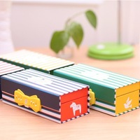 2014 Multi-purpose Password pencil case pen box pencil box  four colors line design 19cm*6*8.5cm Free shipping