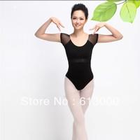 Good quality sexy women black dance leotard ballet gymnastic leotard M/L/XL free shipping