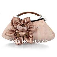 Elegant Polyester Flower Design Women Wedding Clutch Evening Bag Purse 8662#