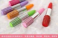 Free shipping 100pcs/lot Ballpoint pen,New Fashion lipstick shape ball pen,Creative pen,Advertising pen, Used for Office&Study