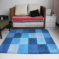 Blue carpet coffee table carpet 1.2 1.8 meters