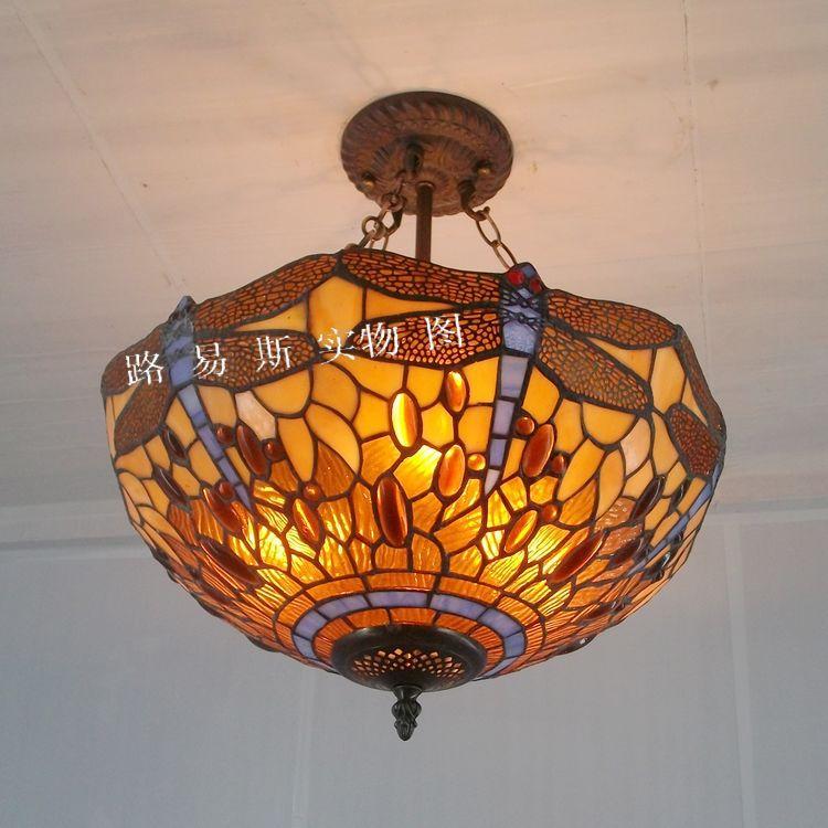 ingrosso Online tiffany antica libellula lampada da Grossisti tiffany ...