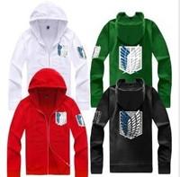 2014 Hot sale free Shipping Attack On Titan men & women hoodies Shingeki no kyojin cosplay The Scouting Legion Survey Corps
