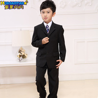 Children's clothing male child suit blazer flower girl formal dress 2014 child suit male set spring