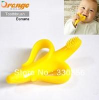 Banana shape teether toothbrush