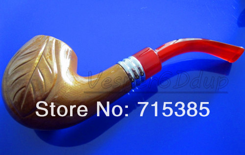 10pcs lot New Durable Wooden Enchase Smoking Pipe Tobacco Cigarettes Cigar Pipes For Gift