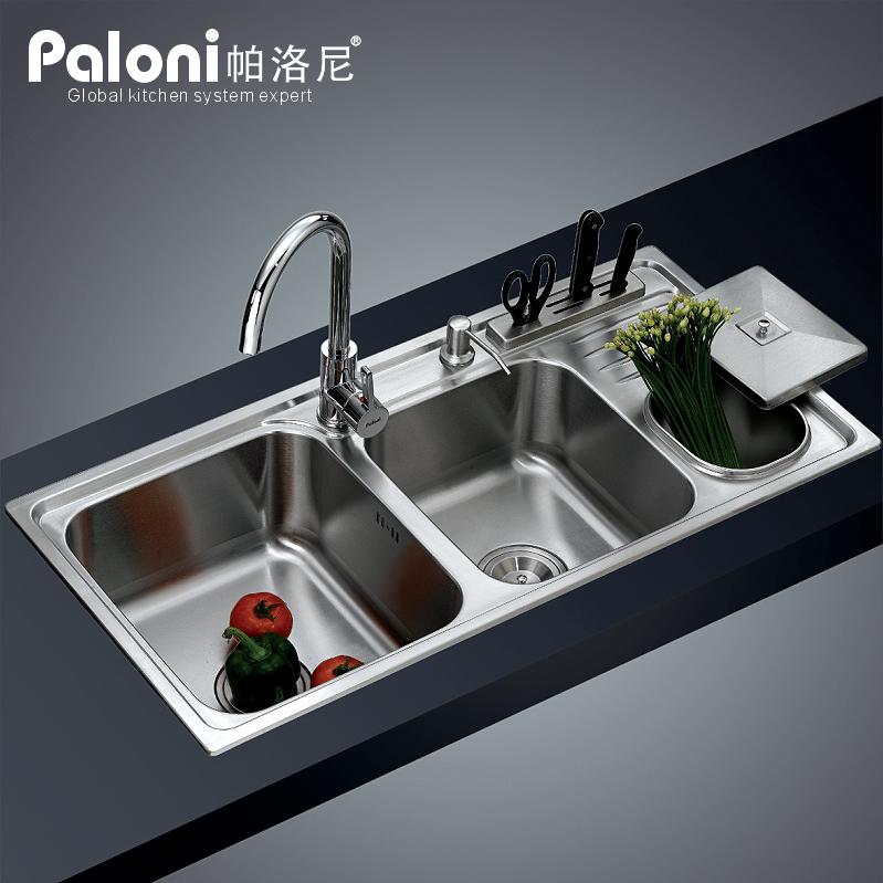 Évier en acier inoxydable double vasque encastré produits