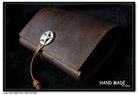 Premium Gift UNIQUE Handmade VINTAGE Tobacco Pipe Pouch Bag Hard Genuine Brown Cow Leather Case 20*15cm Smoking Accessories