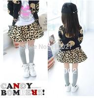 2014 NEW girl classy tutu leopard skirts for girl spring mini skirt 5pcs cotton clothes wholesale baby tutu skirt  pettiskirt