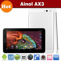7 inch Ainol AX3 3G GPS Android 4.2 Tablet PC MTK8382 Quad Core 1GB/16GB Dual Camera 5.0M FM 1024*600pix 2500mAH 3G WCDMA
