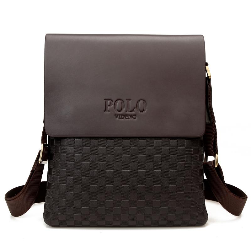 new 2014 fashion polo men bags,men's genuine leather messenger bag,Plaid Casual leather bag,man brand Business shoulder bag Z70(China (Mainland))