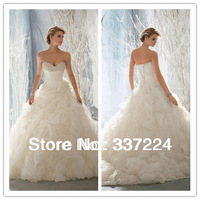 2014 Fashion White Ivory A-line Wedding Dress Size 4 6 8 10 12 14 16 18 ++