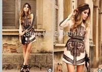 Charming ladies fashion 2013 eyelash lace patchwork PU long-sleeve dress