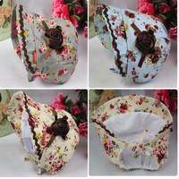 Vintage rose print flower princess Hat baby hat spring & Summer infant hats and caps 2pcs/lot