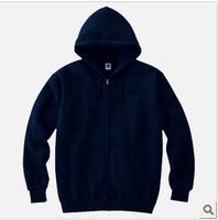 Solid color ecgii zipper sweatshirt stucco thick solid color printing sweatshirt community service cardigan sweatshirt