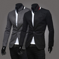 2014 new men's casual suit jacket roman unique design of the collar Free shipping 2 color 4 size 135081
