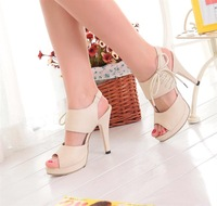 Free delivery of 2014 new summer female fashion sexy high-heeled sandals size 40-43