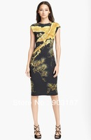 Free shipping 2014 spring fashion classic version type Chinese wind eagle print dress KC357